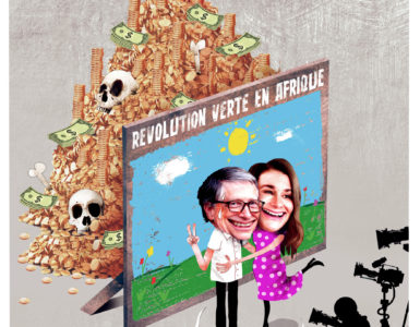 La Bill & Melinda Gates Foundation en Afrique. Un dessin de Max Tilgenkamp.