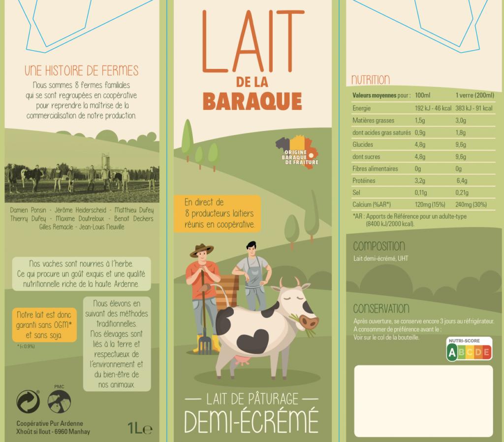 Le Lait de la Baraque... Une nouvelle brique écologique et équitable