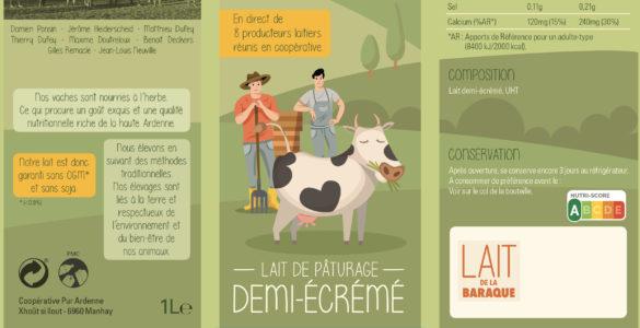 Le lait de la Baraque, une nouvelle brique commercialisée par la coopérative Pur Ardenne.