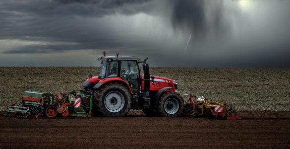 Agriculteur dans son champ