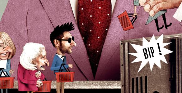Aldi - Caricature pour le décryptage sur les campagnes de pub.